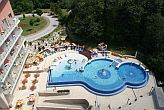 4* Thermal Hotel Visegrad outdoor swimming pool with panoramic view